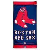 WinCraft MLB Boston Red Sox Fiber Beach Towel, 9lb/30 x 60