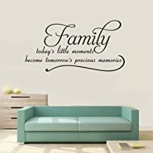 yangar Removable Vinyl Mural Decal Quotes Art Family Todays Little Moments Become Tomorrow Precious Memories for Living Room Kids Room Couple Room