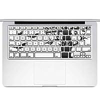 igsticker MacBook Air 13inch 2010 ~ 2017 専用 キーボード用スキンシール キートップ ステッカー A1466 A1369 Apple マックブック エア ノートパソコン アクセサリー 保護 014708 ハロウィン コウモリ