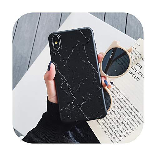 Hopereo Vintage Mármol Caso Para Iphone 12 Mini 11 Pro Xr Xs Max X 6 6S 7 8 Plus A Prueba de Golpes Mate Suave Imd Teléfono Contraportada Regalo G-Para Iphone X O Xs