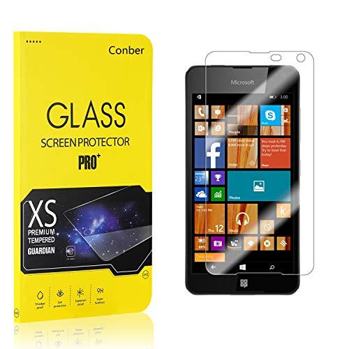 [2 Stück] Conber Panzerglas Schutzfolie für Microsoft Lumia 650, [9H Härte][Anti-Kratzen][Anti-Öl][Anti-Bläschen] Panzerglasfolie Displayschutz für Microsoft Lumia 650