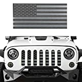 Hooke Road Front Grill Mesh Grille Insert US Flag Old Glory for 2007-2018 Jeep Wrangler JK & Wrangler Unlimited (Black Out)