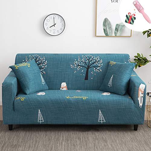 Sofabezug Sofa Überwürfe Elastiche Stretch 1 2 3 4 Sitzer, Morbuy Modern Universal Antirutsch Sofahusse für Armlehnen Ecksofa L Form U Form Sofa (Eisbär,2 Sitzer)
