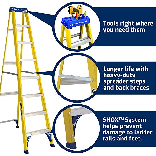 Louisville Ladder FS2008 Step Ladder, 8-Feet/250lb