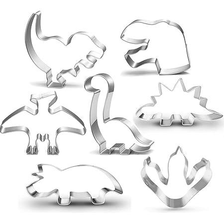 Dino Tan Plastic Cookie Cutters USA 3 Pc 1987 LK Mfg