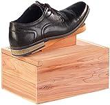 infactory Schuhputzset: Luxus Schuhputzkasten, Zedernholz, Fußstütze, 6-tlg. Schuhpflege-Set (Schuhputzset mit Kasten)