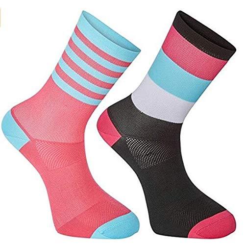 UKKD Medias 5 Pares De Hombres Mujeres Ciclismo Calcetines Mtb Socks Bicidos Transpletle Calcedor De Bicicletas De Bicicletas Airneas Calderas De Racting