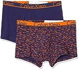 Calvin Klein Trunk 2PK Bañador, Azul (Nova Print Astral Aura/Astral Aura 2hh), Small (Pack de 2) para Hombre