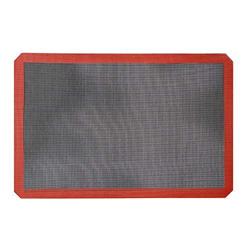 Tapis de cuisson - Plateau en rouleau en silicone résistant à la chaleur réutilisable, antiadhésif, doublure en feuille de cuisson en silicone, grille de cuisson au four lavable et résistant à la chal