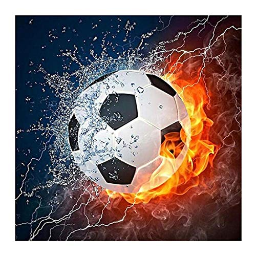 Tompig Diamant Painting Bilder DIY 5D Diamant Malerei Diamond Painting Kits Full Drill Fußball 30x30 cm