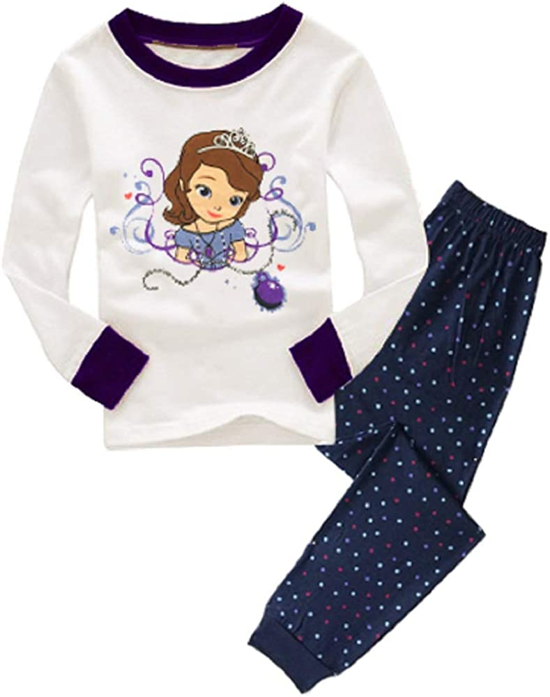 SZCQ Teen Gilrs Pajama Set Long Clothes Suits Princess White Pajamas Cotton Sleepwear 8-12 Years