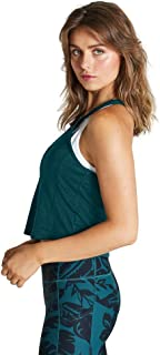 Rockwear Activewear Women's Winter Solstice Fitted Crop Singlet Dark Teal 4 from Size 4-18 for Singlets Tops