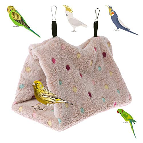 Clicks Fleece Pet Cage Hangmat voor kleine dieren Hanging House Bed Ratte Frettchen Chinchillas Totoro Hamster Cavia's Winter Warm Bonkbed Rustige spelen, Small, grijs