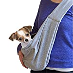 GHIFANT Dog and Cat Sling Carrier Little Pet Carrier Shoulder Crossbody Pet Slings for Outdoor Traveling Subway (Large Space) 8