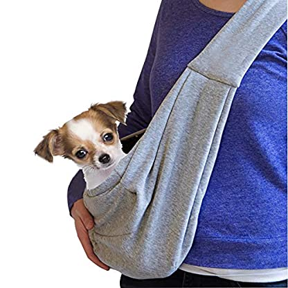 GHIFANT Dog and Cat Sling Carrier Little Pet Carrier Shoulder Crossbody Pet Slings for Outdoor Traveling Subway (Large Space) 1