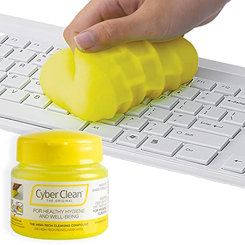 CYBER CLEAN The Original Reinigungsmasse 145g - Reinigungsgel, Tastaturreiniger, wiederverwendbare Reinigungsknete für Haushalt, Elektronik und Auto, Staubentferner