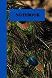 Notebook: Brightly Colored Peacock Inspired Blank-Lined Note