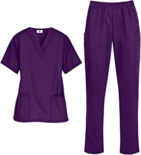 Women's Medical Uniform Scrub Set (XS-3X, 14 Colors) – Includes Top and Pant