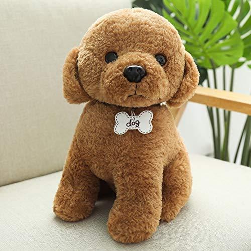 Boufery Precioso Juguete de Peluche de Perro Corgi, Almohada de Perro de Dibujos Animados de Animales Suaves Rellenos, niños de 30 cm (marrón)
