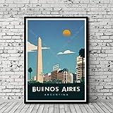 Poster Gemälde Reise Weltstadt Landschaft Buenos Aires