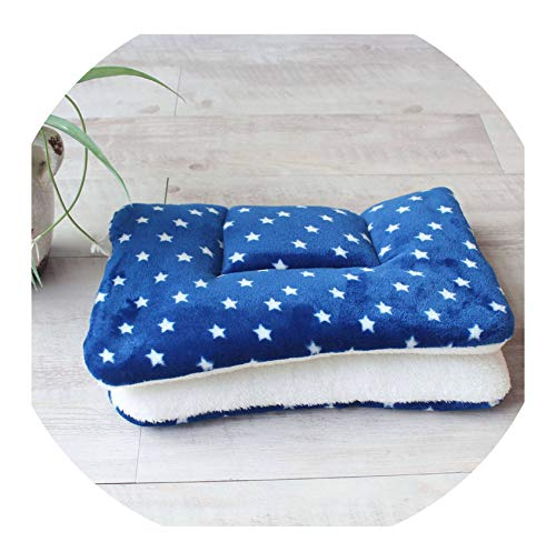 Winter Warm Dog Bed Soft Fleece Pet Blanket Cat Litter Puppy Sleep Mat Lovely Mattress Cushion for Small and Large Dogs 5 Size,Small Stars,57x38cm