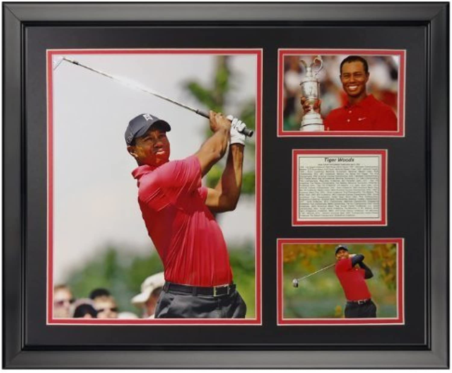 Legenden Sterben Nie Tiger Woods gerahmtes Foto Collage, 40,6x 50,8cm von Legends Never Die
