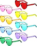 8 Pairs Rimless Sunglasses Heart Shaped...