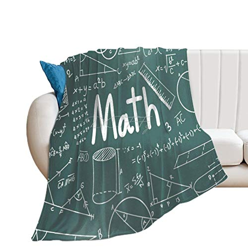 Throw Blanket for Bed Flannel Blankets Math Equations Mathematics Teacher School Lightweight Ultra Soft for All Season Farmhouse Decorative Blanket for Couch Sofa Travel Birthday Gift 60x80 Inch