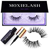 MoxieLash Sassy Kit - Mini Liquid Magnetic Eyeliner for Magnetic Eyelashes - No Glue & Mess Free - Fast & Easy Application - Set of Sassy Lashes & Instruction Card Included (Sassy Lash Kit)