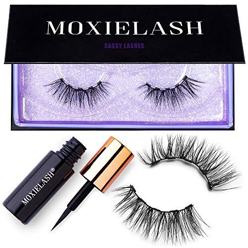 MoxieLash Sassy Kit - Mini Liquid Magnetic Eyeliner for Magnetic Eyelashes - No Glue & Mess Free - Fast & Easy Application - Set of Sassy Lashes & Instruction Card Included (Sassy Lash Kit)