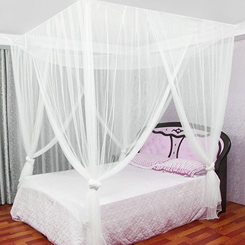 Moustiquaire Baldaquin pour Lits Doubles, JTDEAL Grand Moustiquaire en Polyester Moustiquaire un Répulsif pour les Insectes avec les Outils d'installation ((W *L*H,190 * 210 * 240cm))
