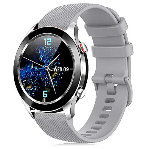 Onedream Armband Kompatibel mit Garmin Vivoactive 4S Vivomove 3S, Sport Ersatz Armband Silikonarmband Zubehör Uhrenarmbänder 18mm für Damen und Herren, Grau (Keine Uhr)