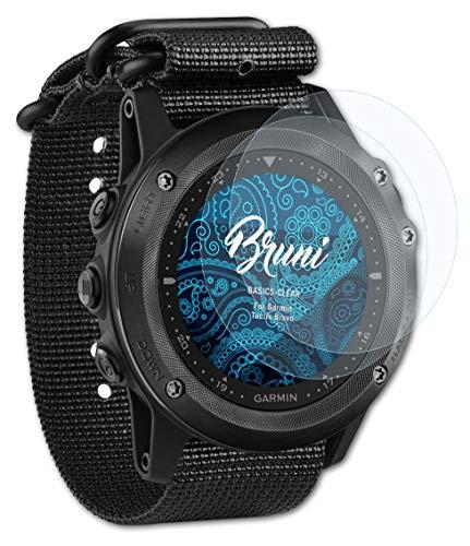 Bruni Schutzfolie kompatibel mit Garmin Tactix Bravo Folie, glasklare Bildschirmschutzfolie (2X)