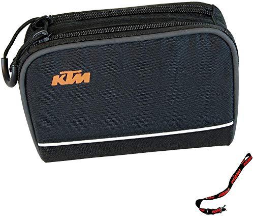 KTM Bolsa para Manillar de Bicicleta Tiras Reflectantes, Incluye Soporte para Llaves (8-028).