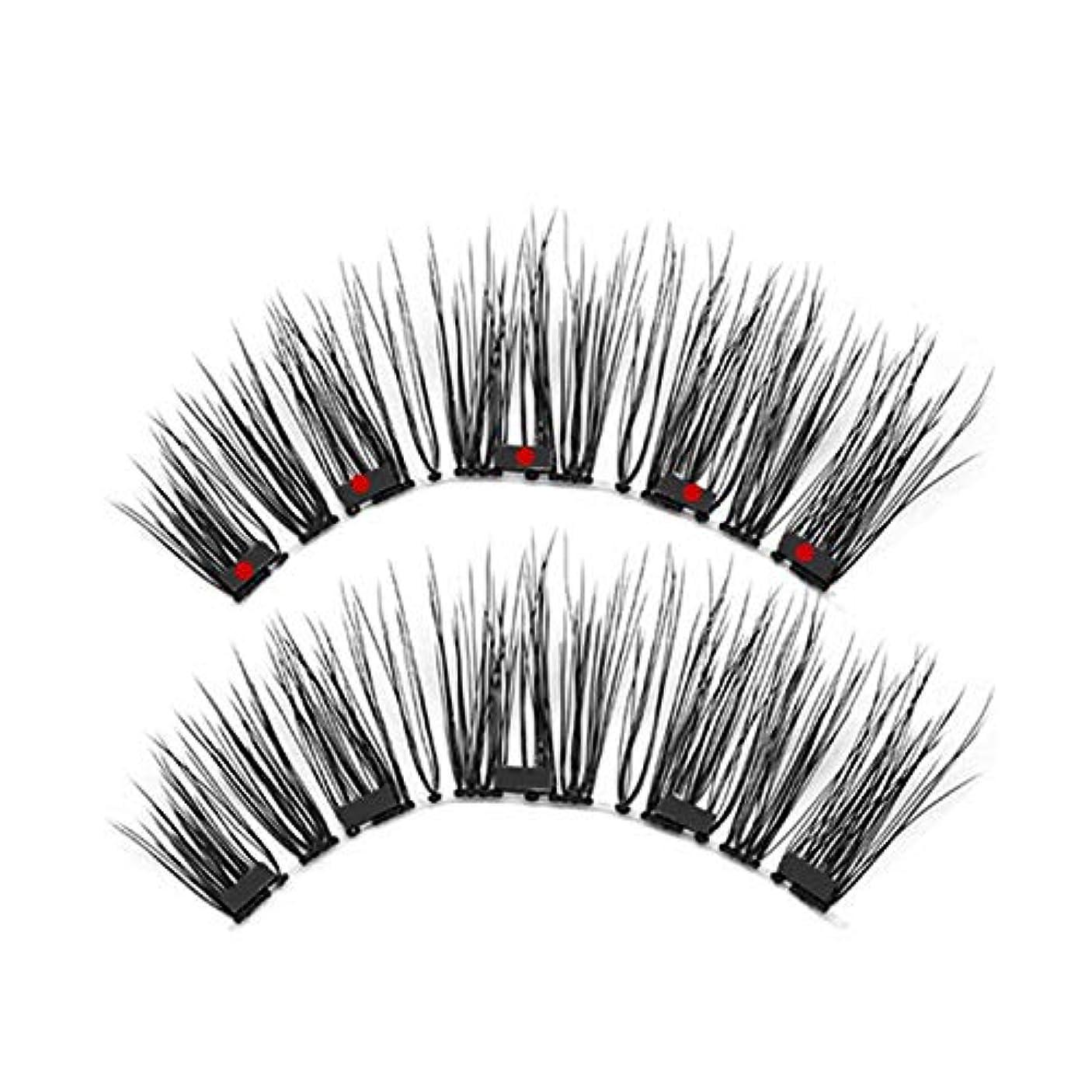 委任する帰る壮大なCUHAWUDBA 1セット磁気つけまつげ 防水防汚性手作り 着やすい まつげ女性の化粧まつ毛 Ks02