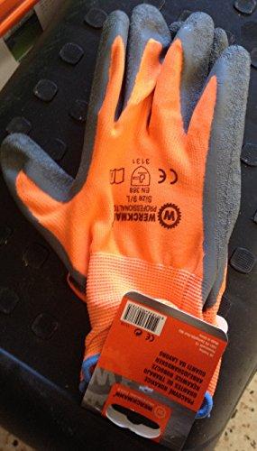 nascom® Handschuh-Arbeit Werckmann Beschichtung Latex oder Nitril Größen L-XXL