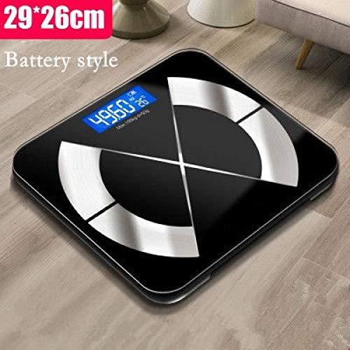 ZKYXZG Escala de peso Body Fat Scale Floor Scientific Smart Electronic LED Peso digital Balance de baño Bluetooth APP Android/IOS xiaomi mi 2 USB, 7