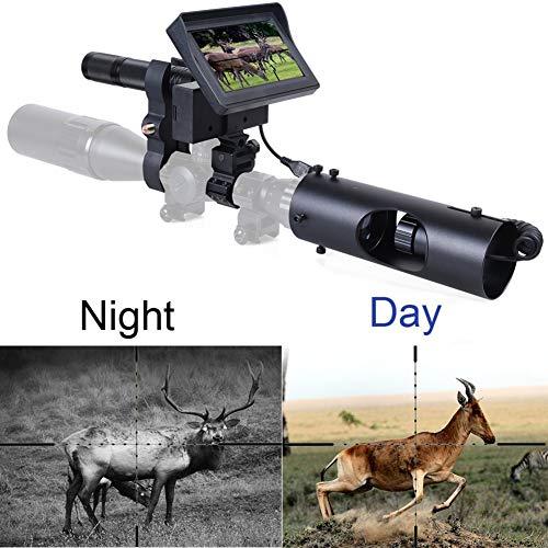 CITW Alcance de visión Nocturna Digital para visores de Rifle, Dispositivo de Alcance de visión Clara infrarroja para cámara, con cámara y Pantalla portátil de 4.3