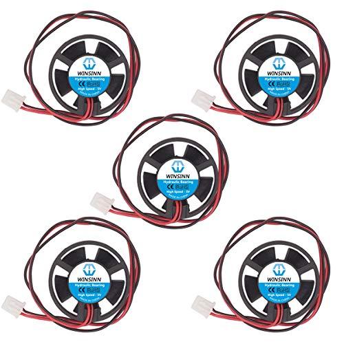WINSINN 3010 - Ventilador redondo de 30 mm, rodamiento hidráulico de 5 V, 31,5 x 10 mm, para mini tuberías de refrigeración/cuaderno de alta velocidad (paquete de 5 unidades)