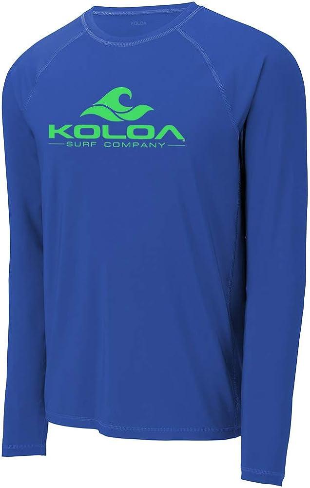 Koloa Surf Mens Classic Wave Logo UPF 50 Rashguard Long Sleeve Tees Sizes XS-4XL