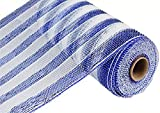 25,4cm X 30Füße Deco Poly Mesh Band–Royal Blau
