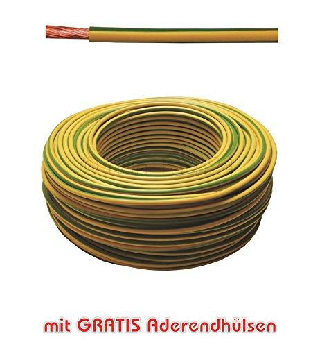 20m Erdungskabel 6mm² - Grün/Gelb - H07V-K - Aderleitung feindrähtig flexibel