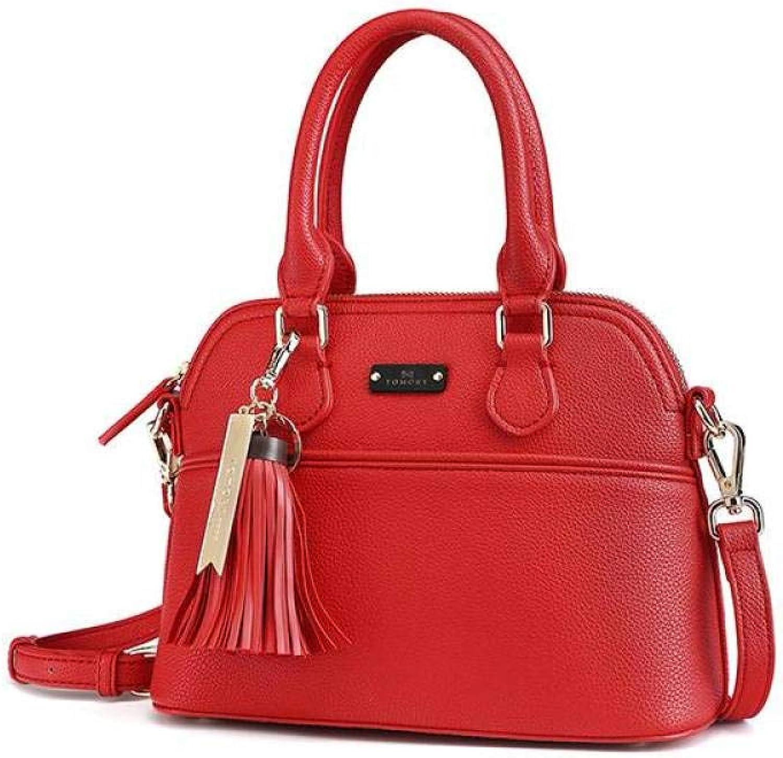 Wlbag Designer-Handtaschen für Frauen Crossbody Umhngetasche Fashion Shell Bag,Rot,25  18  11 cm