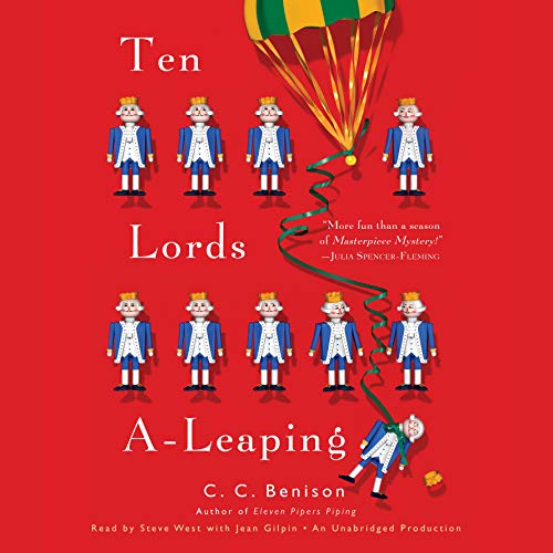 Ten Lords A-Leaping     A Father Christmas Mystery              By:                                                                                                                                 C. C. Benison                               Narrated by:                                                                                                                                 Steve West,                                                                                        Jean Gilpin                      Length: 15 hrs and 16 mins     65 ratings     Overall 3.7