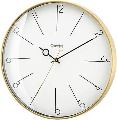 インターフォルム 掛け時計 ホワイト 直径29×奥行5.5cm マノン Manon CL-3882
