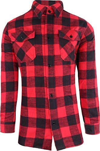 Chemise De Bûcheron / 100% Coton / De QualitéÉpaisse - 36, rouge/noir