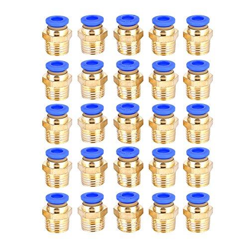 25 stücke G1 / 4 Pneumatische Push Schnelle Stecker Luft Schnellkupplung Adapter pc6-02