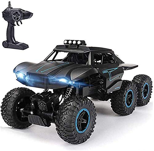 WJ Remote Control Car, 1:12 Rock Crawler RC Cars 2.4Ghz Radio Controlled, 6WD RC Cars with High and Low-Speed Mode, Best Gift Toy for Adults Kids,Black