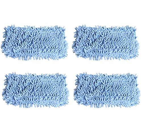 LIZONGFQ Zhang Asia 4pcs Microfibre Steam Mop Pads Fit for Black & Decker Fsm1610 1630 Fsmh1300FX-Aspirateur Lavable Remplacement Vadrouille À Plancher Chiffons