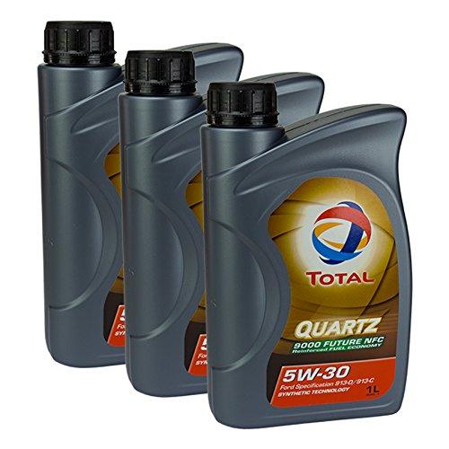 3x motorolie Total Quartz 9000 Future NFC 5W-30 1L